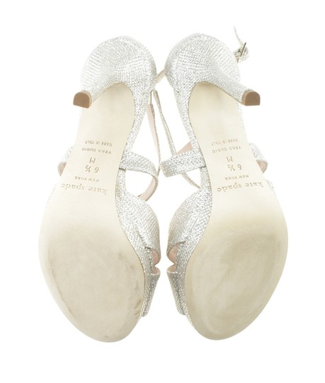 Kate Spade Leather Silver Sandals Image 2