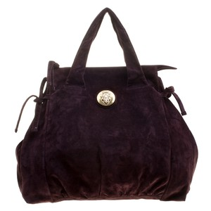 Gucci Suede Satchel in Purple