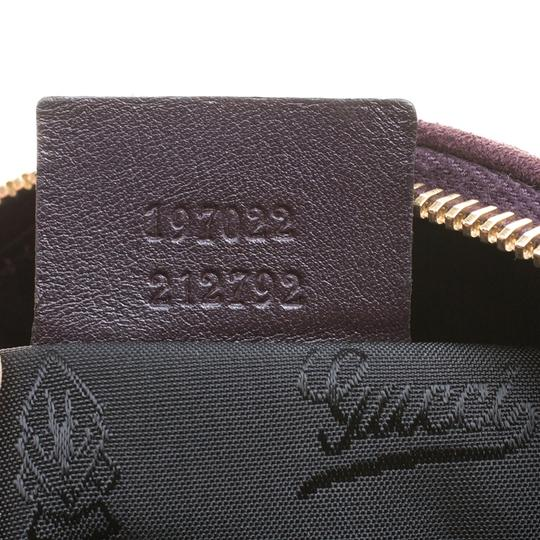 Gucci Suede Satchel in Purple Image 10