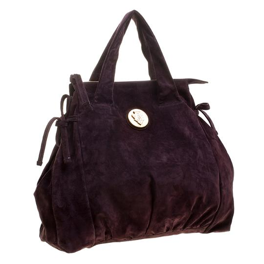 Gucci Suede Satchel in Purple Image 2
