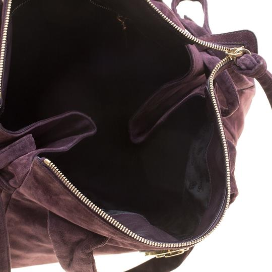 Gucci Suede Satchel in Purple Image 5