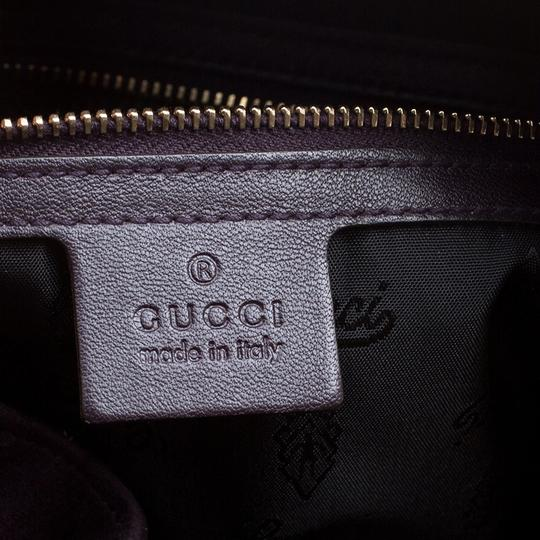 Gucci Suede Satchel in Purple Image 8