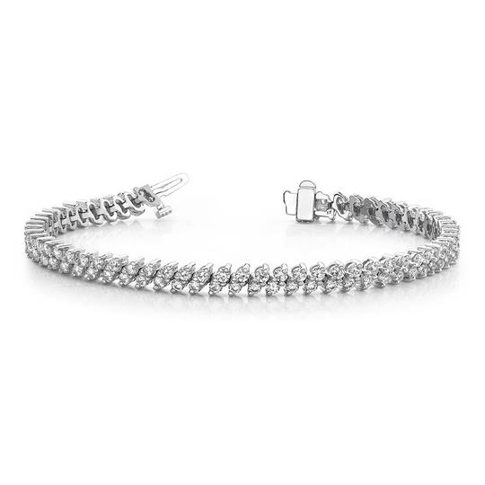 Preload https://img-static.tradesy.com/item/26768894/white-700-ct-round-double-row-tennis-bracelet-0-0-540-540.jpg