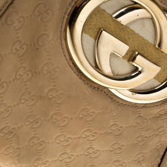 Gucci Leather Tote in Beige Image 5