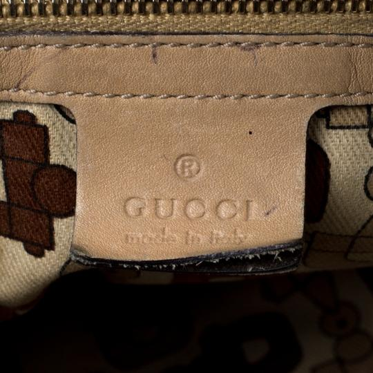 Gucci Leather Tote in Beige Image 7