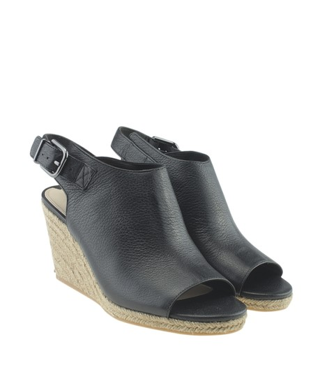 Via Spiga Leather Black Wedges Image 1