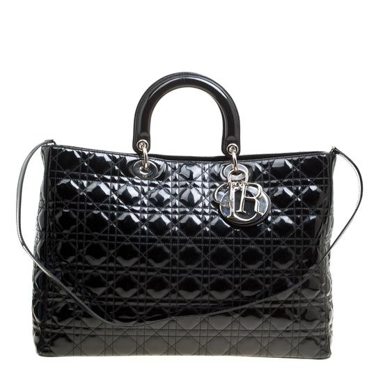 Preload https://img-static.tradesy.com/item/26768946/dior-top-handle-bag-lady-extra-large-black-patent-leather-tote-0-0-540-540.jpg