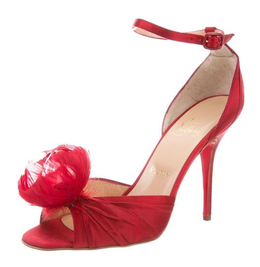 Preload https://img-static.tradesy.com/item/26768949/christian-louboutin-red-satin-feather-rosazissimo-ankle-wrap-38-7-75-sandals-size-us-narrow-aa-n-0-0-540-540.jpg