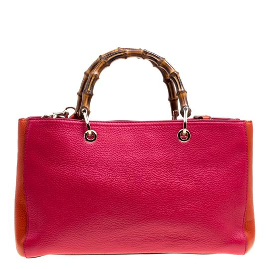 Gucci Leather Canvas Pink Clutch Image 1