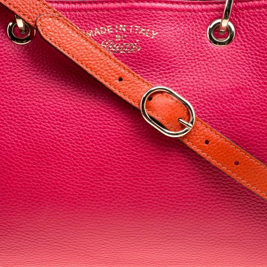 Gucci Leather Canvas Pink Clutch Image 10