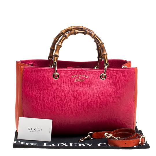 Gucci Leather Canvas Pink Clutch Image 11