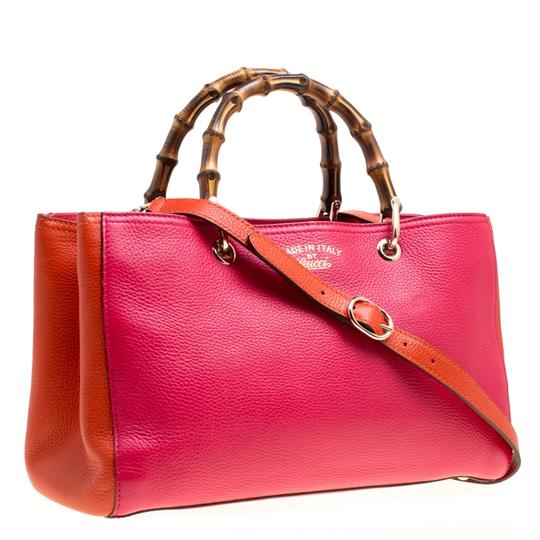 Gucci Leather Canvas Pink Clutch Image 3