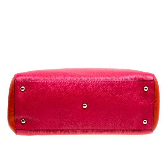 Gucci Leather Canvas Pink Clutch Image 4
