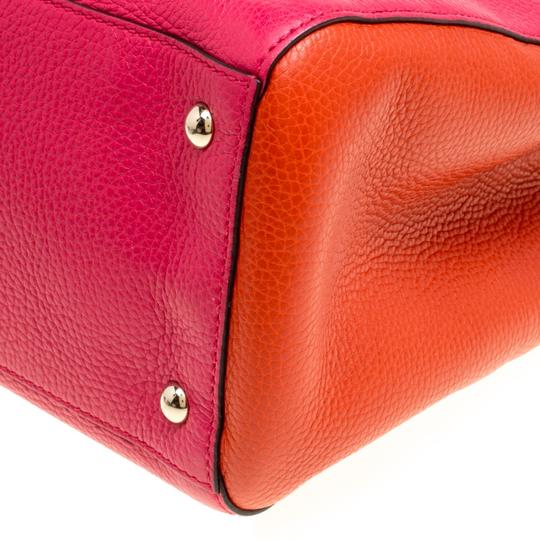Gucci Leather Canvas Pink Clutch Image 5