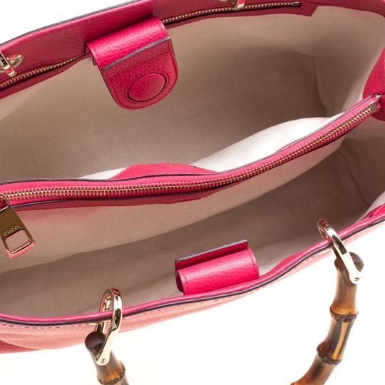 Gucci Leather Canvas Pink Clutch Image 6