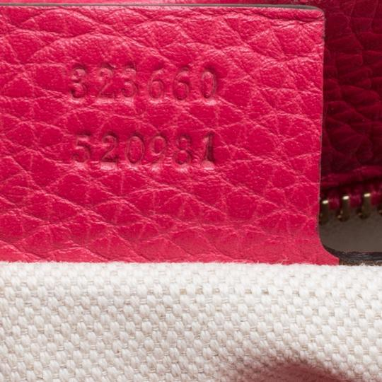 Gucci Leather Canvas Pink Clutch Image 7