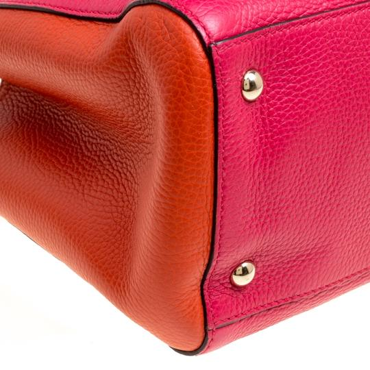 Gucci Leather Canvas Pink Clutch Image 8