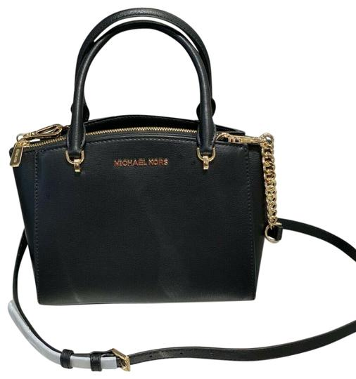 Preload https://img-static.tradesy.com/item/26768979/michael-kors-ellis-sm-convertible-satchel-black-leather-cross-body-bag-0-1-540-540.jpg