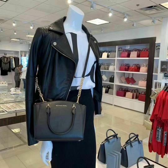 Michael Kors Mk Leather Cross Body Bag Image 1
