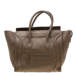 Céline Leather Mini Satchel in Brown