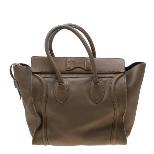 Céline Leather Mini Satchel in Brown Image 1