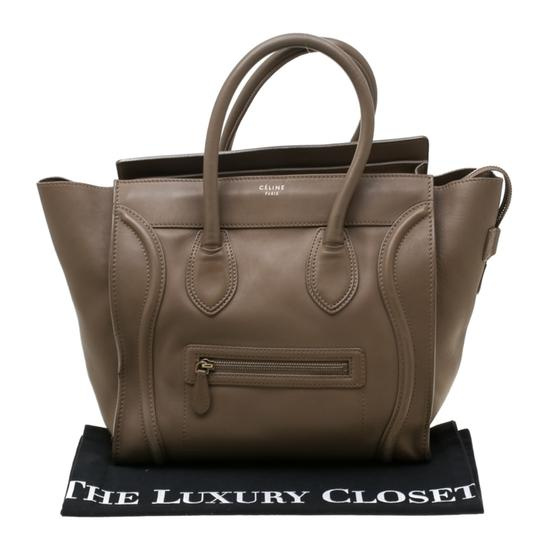 Céline Leather Mini Satchel in Brown Image 11