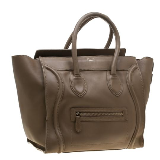 Céline Leather Mini Satchel in Brown Image 3