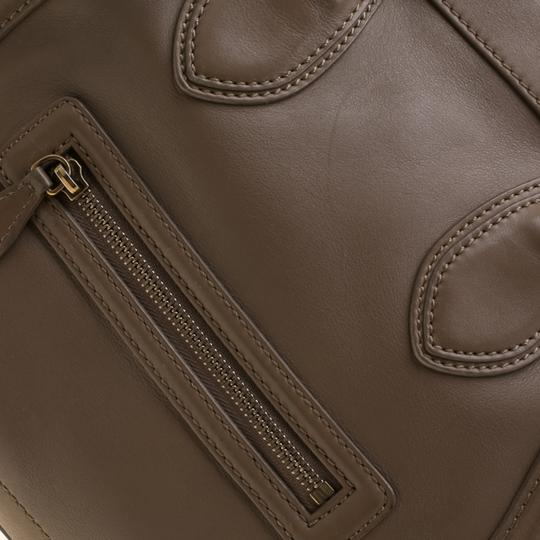 Céline Leather Mini Satchel in Brown Image 7
