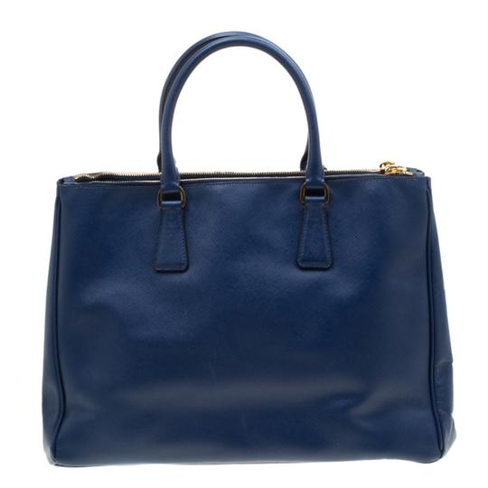 Prada Leather Tote in Blue Image 1