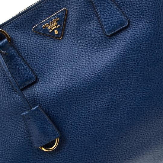 Prada Leather Tote in Blue Image 10