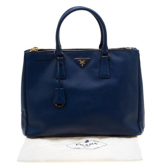 Prada Leather Tote in Blue Image 11