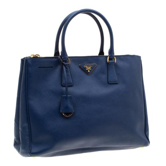 Prada Leather Tote in Blue Image 3