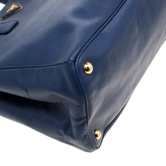 Prada Leather Tote in Blue Image 5