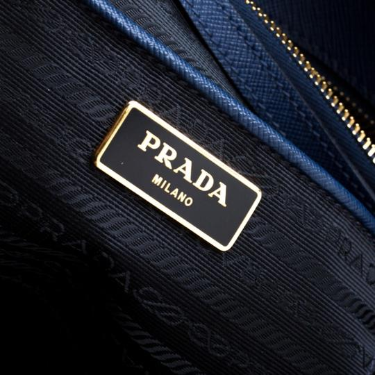 Prada Leather Tote in Blue Image 6