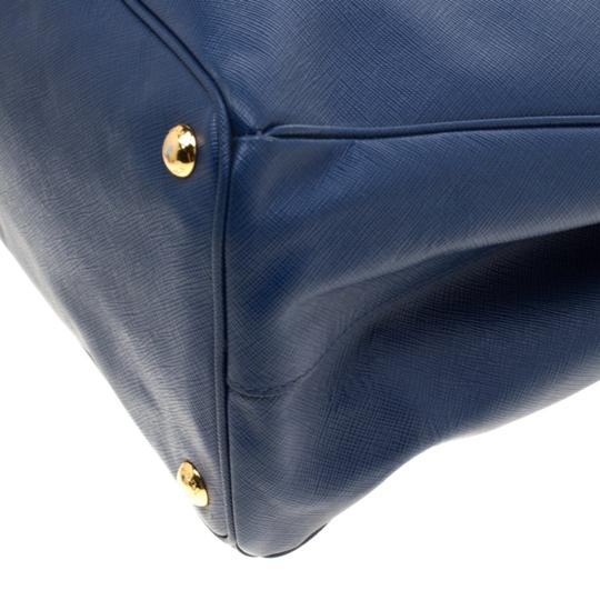Prada Leather Tote in Blue Image 7