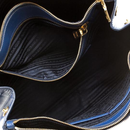 Prada Leather Tote in Blue Image 9