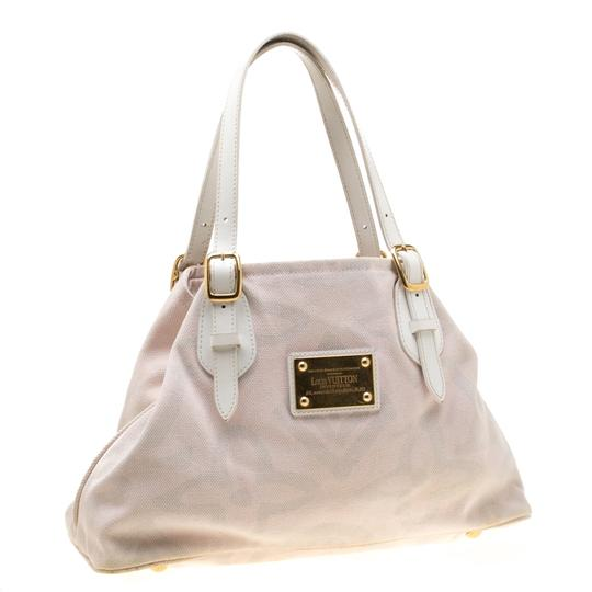 Louis Vuitton Canvas Leather Tote in Beige Image 3