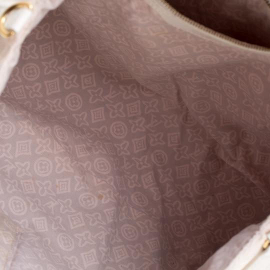 Louis Vuitton Canvas Leather Tote in Beige Image 7