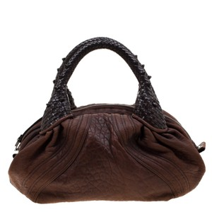 Fendi Pebbled Leather Hobo Bag
