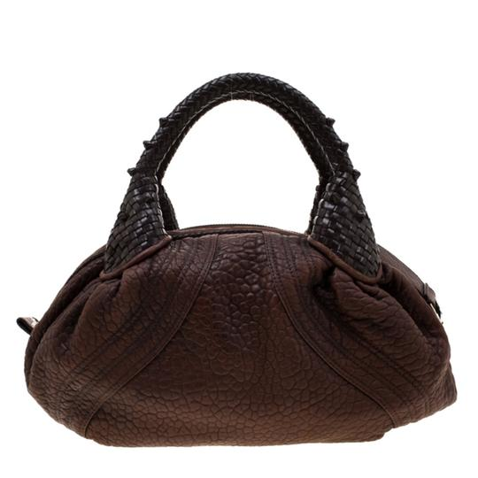 Fendi Pebbled Leather Hobo Bag Image 1