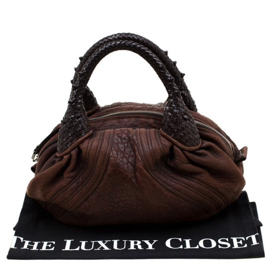 Fendi Pebbled Leather Hobo Bag Image 11
