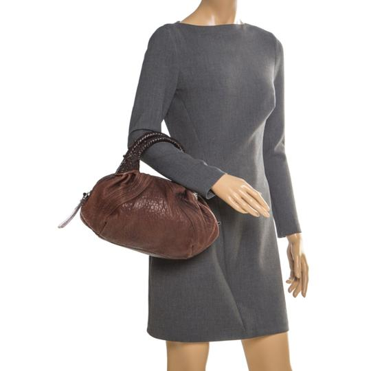 Fendi Pebbled Leather Hobo Bag Image 2