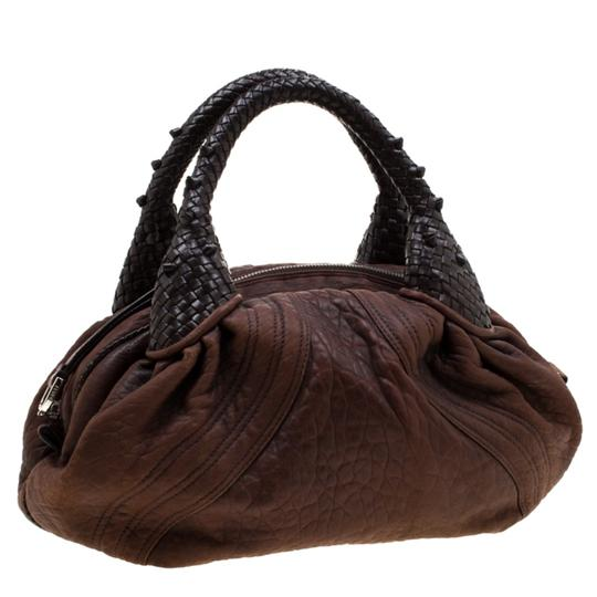 Fendi Pebbled Leather Hobo Bag Image 3