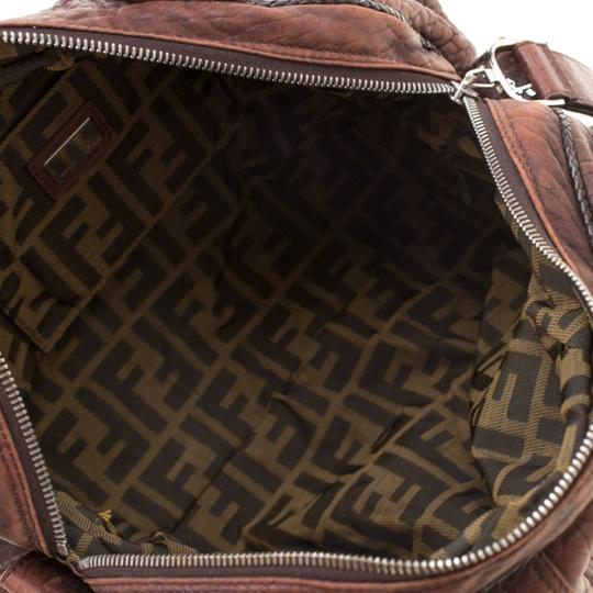 Fendi Pebbled Leather Hobo Bag Image 8