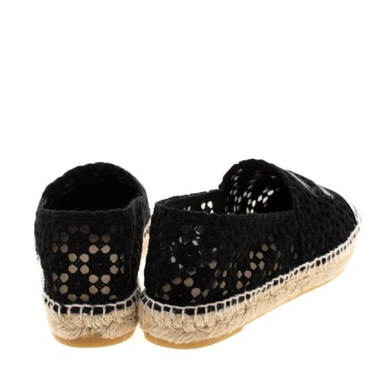 Chanel Lace Patent Leather Black Flats Image 4