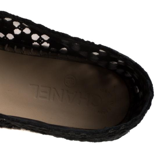 Chanel Lace Patent Leather Black Flats Image 6