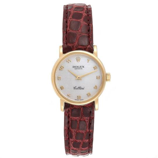 Rolex Rolex Cellini Classic 18k Yellow Gold Brown Strap Ladies Watch 6110 Image 1