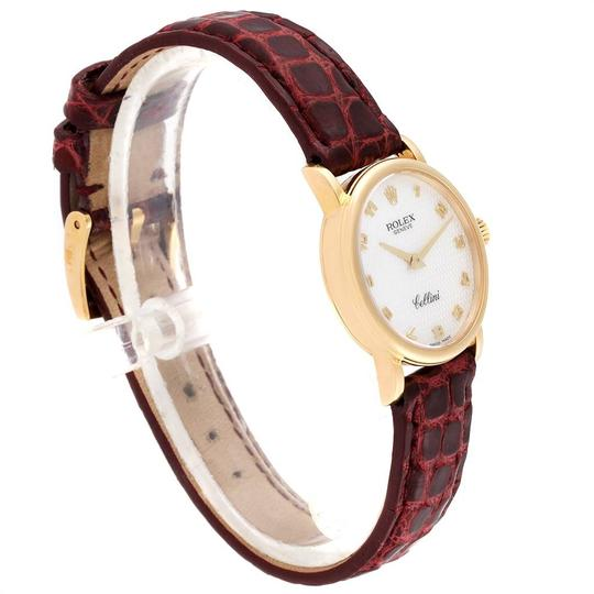 Rolex Rolex Cellini Classic 18k Yellow Gold Brown Strap Ladies Watch 6110 Image 2