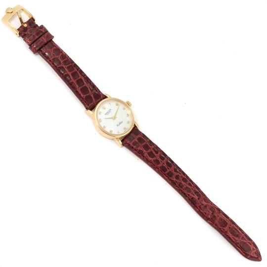 Rolex Rolex Cellini Classic 18k Yellow Gold Brown Strap Ladies Watch 6110 Image 5