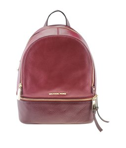Michael Kors Michael Kors Rhea Red Leather Backpack (167720)